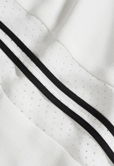 NEXT Tricou alb cu insertii din plasa Femei