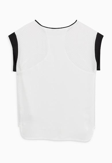 NEXT Бяла тениска с мрежести детайли Жени