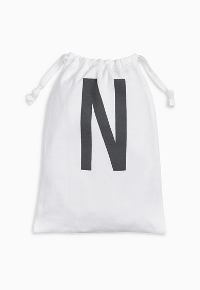 NEXT Kids White Short Sleeve Bodysuit With Drawstring Bag Set Fete