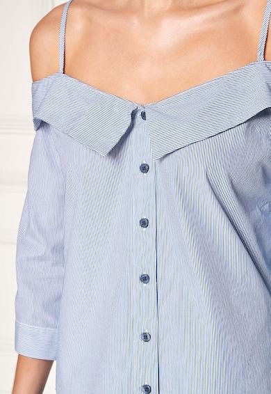 NEXT Camasa alb cu albastru in dungi cu decolteu pe umeri Femei