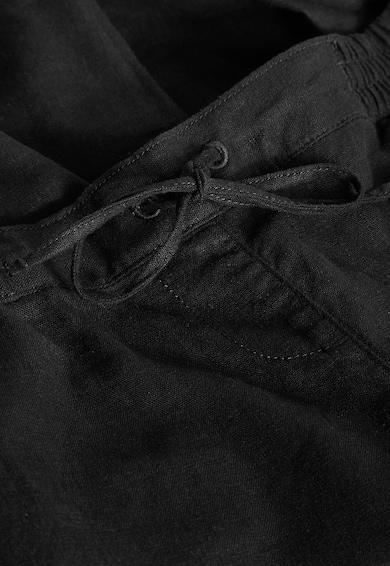 NEXT Черен панталон с лен Жени