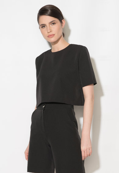 Zee Lane Collection Bluza crop neagra Femei
