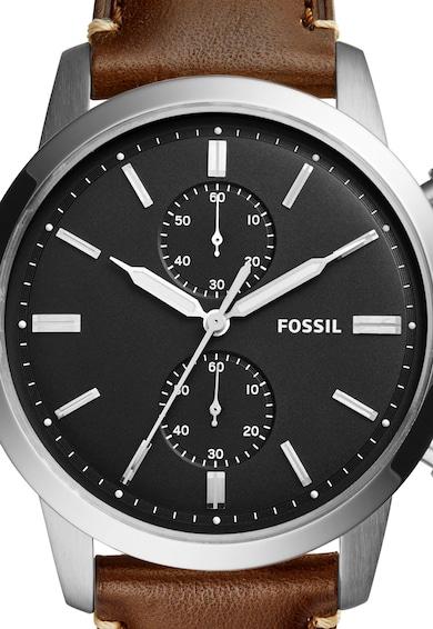 Fossil Ceas cronograf maro cu argintiu Townsman Barbati