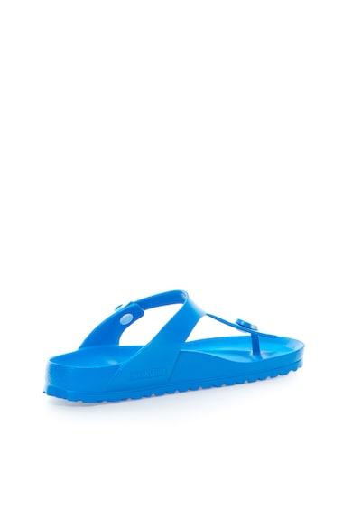 Birkenstock Papuci flip-flop albastri cu calapod clasic Gizeh Femei