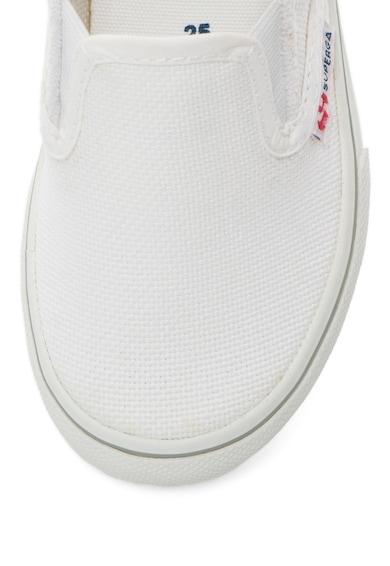 Superga Детски бели обувки без връзки Момичета