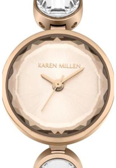 Karen Millen Ceas rotund decorat cu cristale zirconia Femei