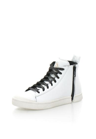 Diesel Спортни обувки в бяло и черно с кожа Мъже