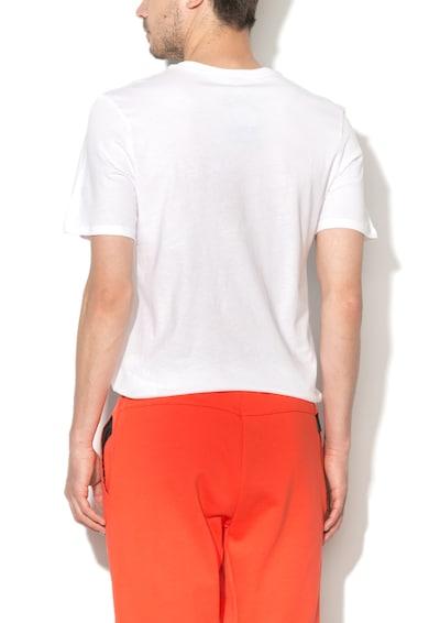 Nike Tricou alb cu logo negru brodat Barbati