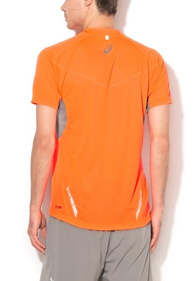 Asics Спортна тениска за бягане в ярък корал и сиво Мъже