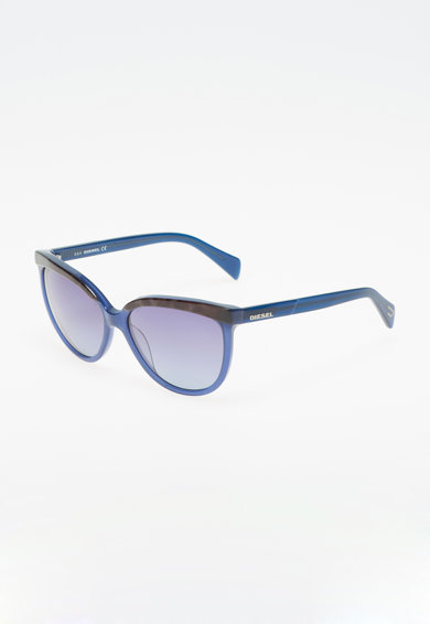 Diesel Ochelari de soare cat-eye gri inchis cu albastru Femei