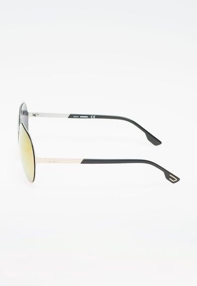 Diesel Ochelari de soare pilot argintiu cu negru Barbati