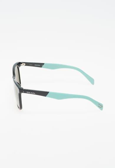 Diesel Унисекс слънчеви очила в черно и мента Жени
