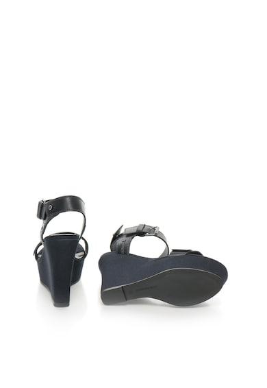 G-Star Raw Sandale wedge bleumarin inchis de piele Claro Femei