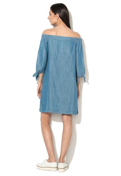 EDC by Esprit Синя рокля от лиосел с голи рамене Жени
