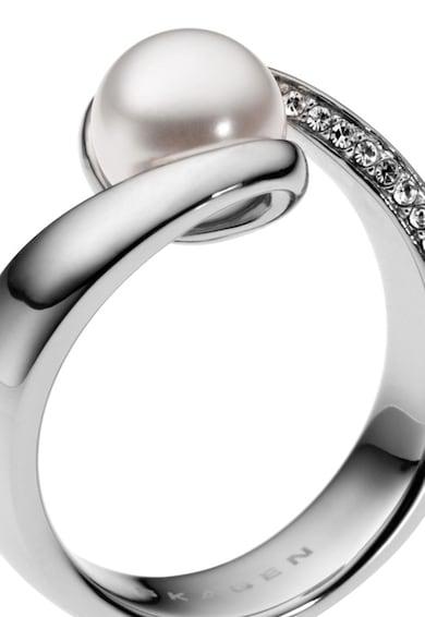Skagen Сребрист пръстен с перла и циркони Жени
