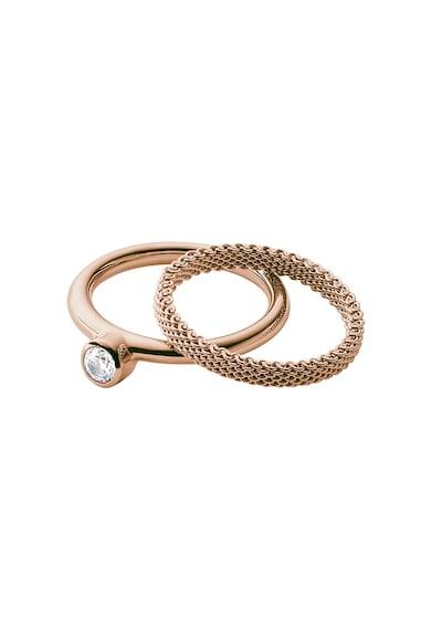 Skagen Set de inele auriu rose - 2 piese Femei