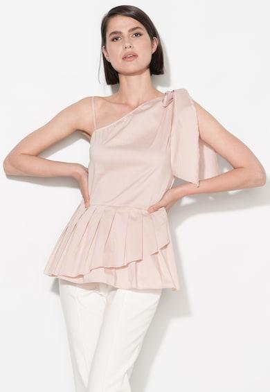 Zee Lane Collection Top roz deschis asimetric cu detaliu plisatZL17S-5010 Femei