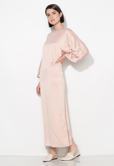 Zee Lane Collection Rochie lunga roz deschis cu maneci bufante Femei