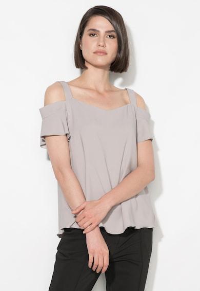 Zee Lane Collection Bluza gri cu decupaje pe umeri Femei