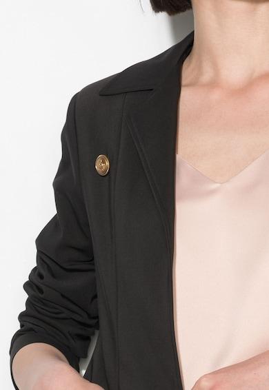 Zee Lane Collection Sacou negru cu design suprapus Femei