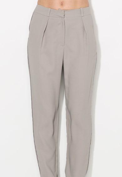 Zee Lane Collection Pantaloni conici crop gri cenusa Femei