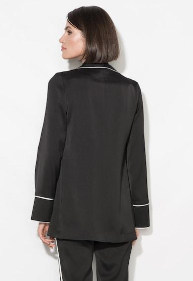 Zee Lane Collection Черно сако без закопчаване с бели детайли Жени