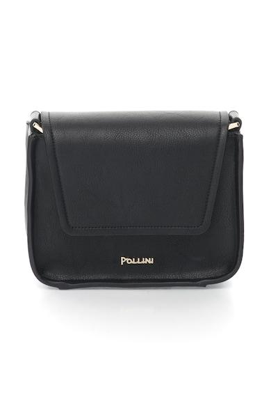 Pollini Fekete Keresztpántos Műbőr Táska női