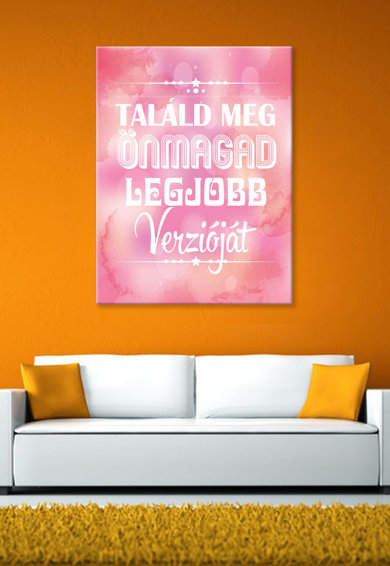 4Decor Tablou de panza in nuante de roz cu imprimeu alb cu mesaj Femei