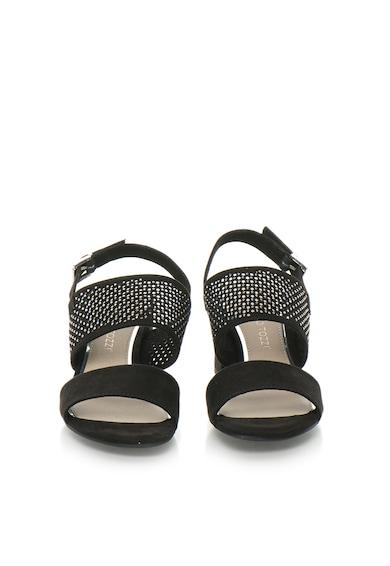 Marco Tozzi Sandale slingback negre perforate Femei