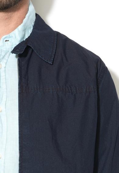 Pepe Jeans London Jacheta albastru indigo din denim cu fermoar Webster Barbati