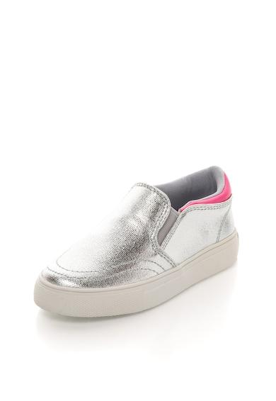 Colors of California Детски сребристи обувки без връзки Момичета