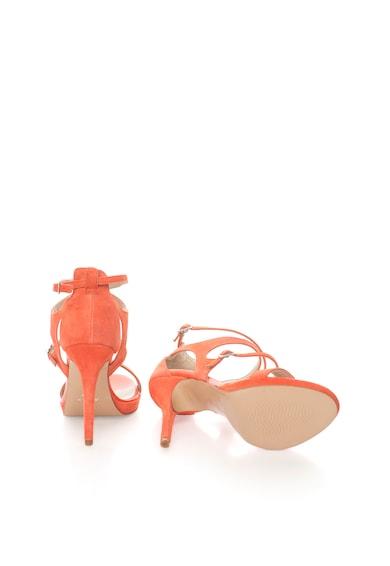 Zee Lane Sandale stiletto corai de piele intoarsa cu barete Brasil Femei
