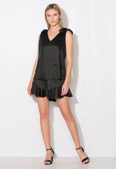 Zee Lane Collection Top negru cu funde Femei