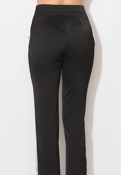 Zee Lane Collection Pantaloni negri cu vipusca alba Femei