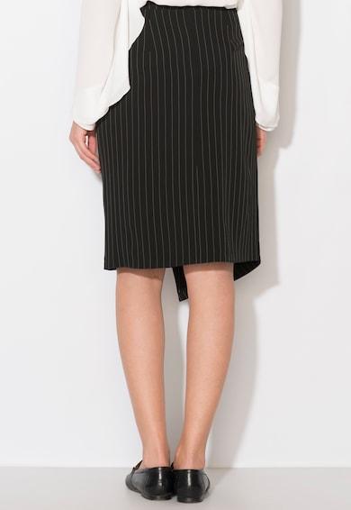 Zee Lane Collection Fusta neagra asimetrica cu dungi albe Femei