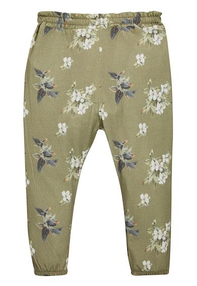 NEXT Pantaloni jogger verde militar cu imprimeu floral Fete