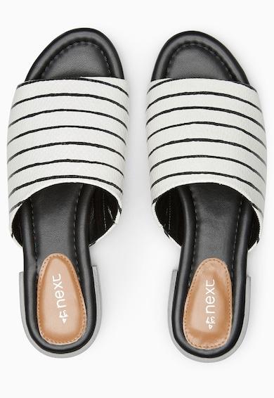 NEXT Papuci negru cu alb in dungi Femei