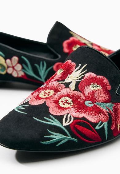 NEXT Fekete Hímzett Cipő női