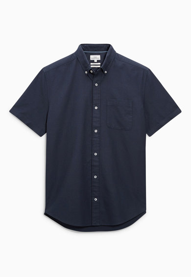NEXT Тъмносиня риза с къси ръкави Мъже