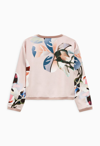 NEXT Bluza sport roz pastel cu imprimeu floral Femei