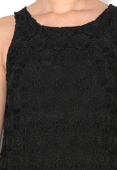 DESIGUAL Rochie neagra cu strat exterior crosetat Barcelona Femei