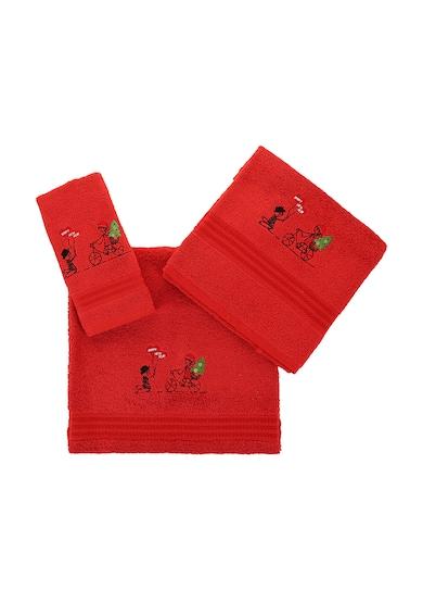 Leunelle Комплект червени кърпи с бродерии - 3 броя Мъже