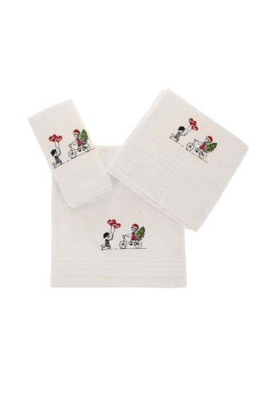 Leunelle Комплект бели кърпи с бродерия - 3 броя Мъже