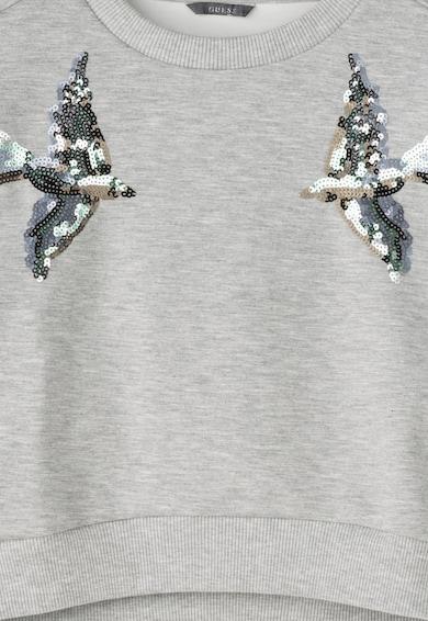 GUESS JEANS Bluza sport gri melange decorata cu paiete Fete