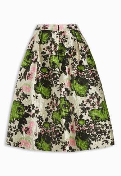 NEXT Fusta eleganta multicolora cu imprimeu floral din jacquard Femei