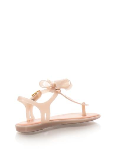 Melissa Детски гумени сандали в бежово с панделка Момичета