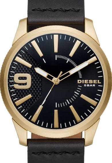 Diesel Aranyszín & Fekete Karóra Bőrszíjjal férfi