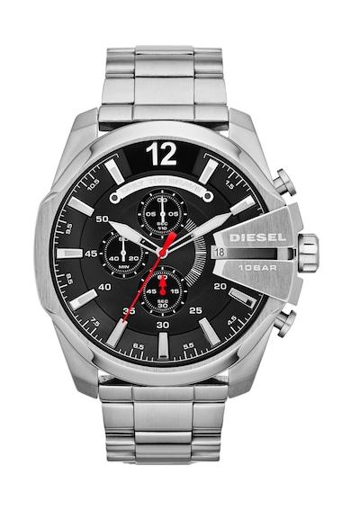 Diesel Сребрист часовник с хронограф Мъже