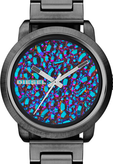 Diesel Тъмносив часовник с циферблат с геода Жени
