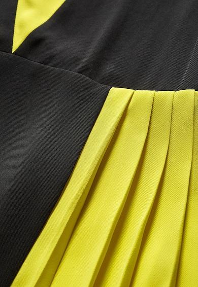 NEXT Rochie galben cu negru cu pliuri Femei